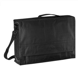 """Maletín Portadocumentos de tela raquelada Polyester 600D modelo """"Java"""", con solapa y bolsillo interior multi-accesorios."""