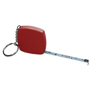 Llavero-huincha de medir (metálica-rígida) de 1 m.