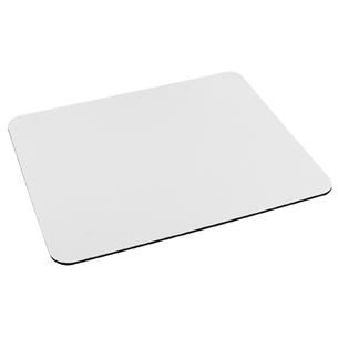 Mouse Pad blanco para Sublimación. Base anti-deslizante negra.
