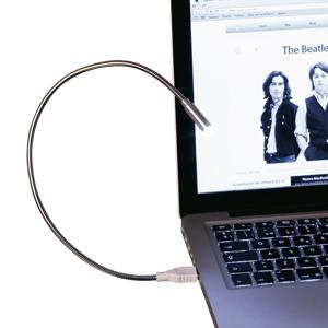 USB Lámpara LED metálica flexible, ideal para Notebook.