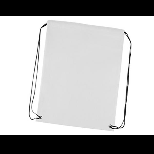 """Mochila """"Flag"""" de poliéster 210D/PU, tipo Morral. Incluye gráfica de Bandera chilena por el anverso y por el reverso es 100% blanca, ideal para impresión de logo."""